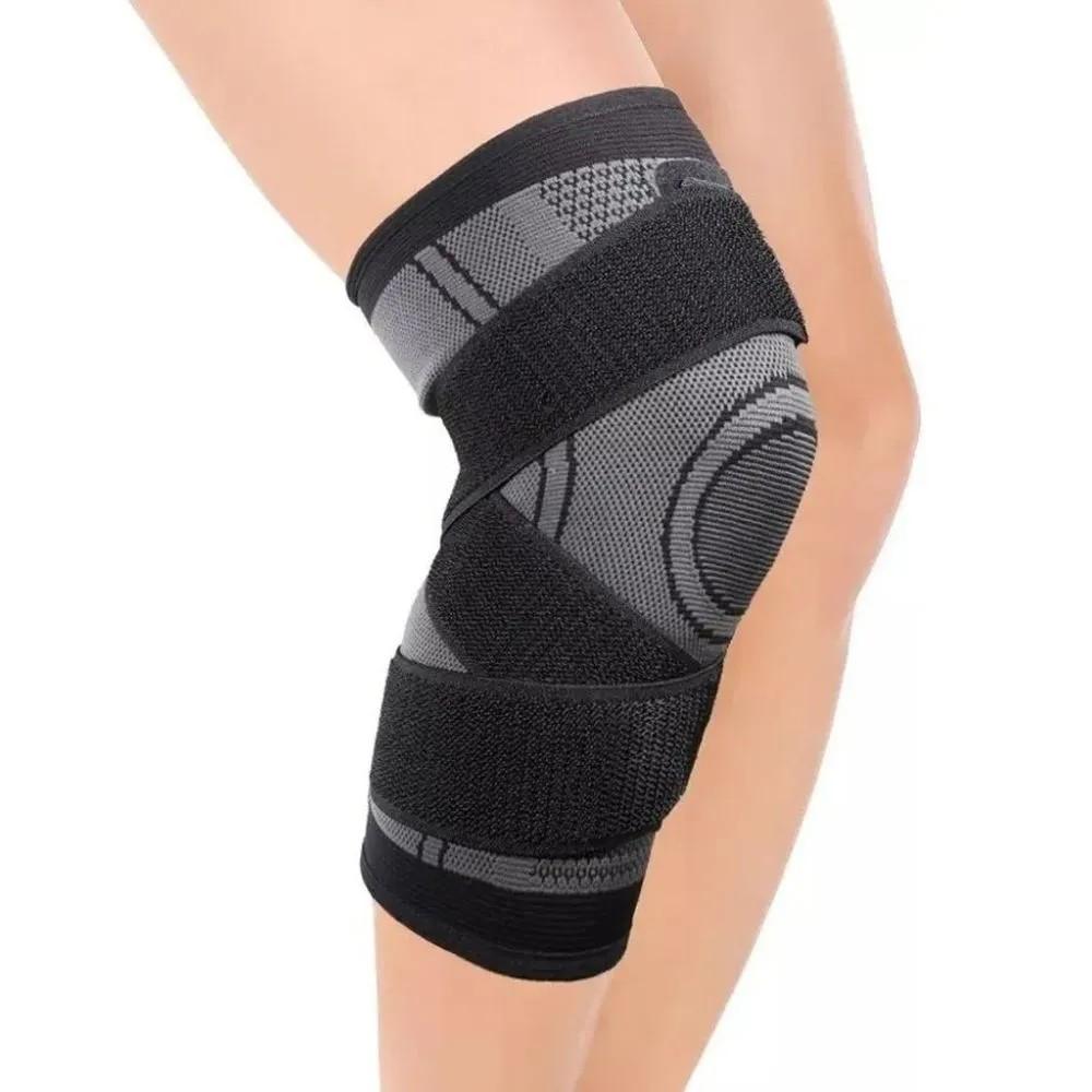 Joelheira Elastica 3D Articulação Bandagem Compressão Exercício Joelhos Estabilidade Academia Apoio Suporte