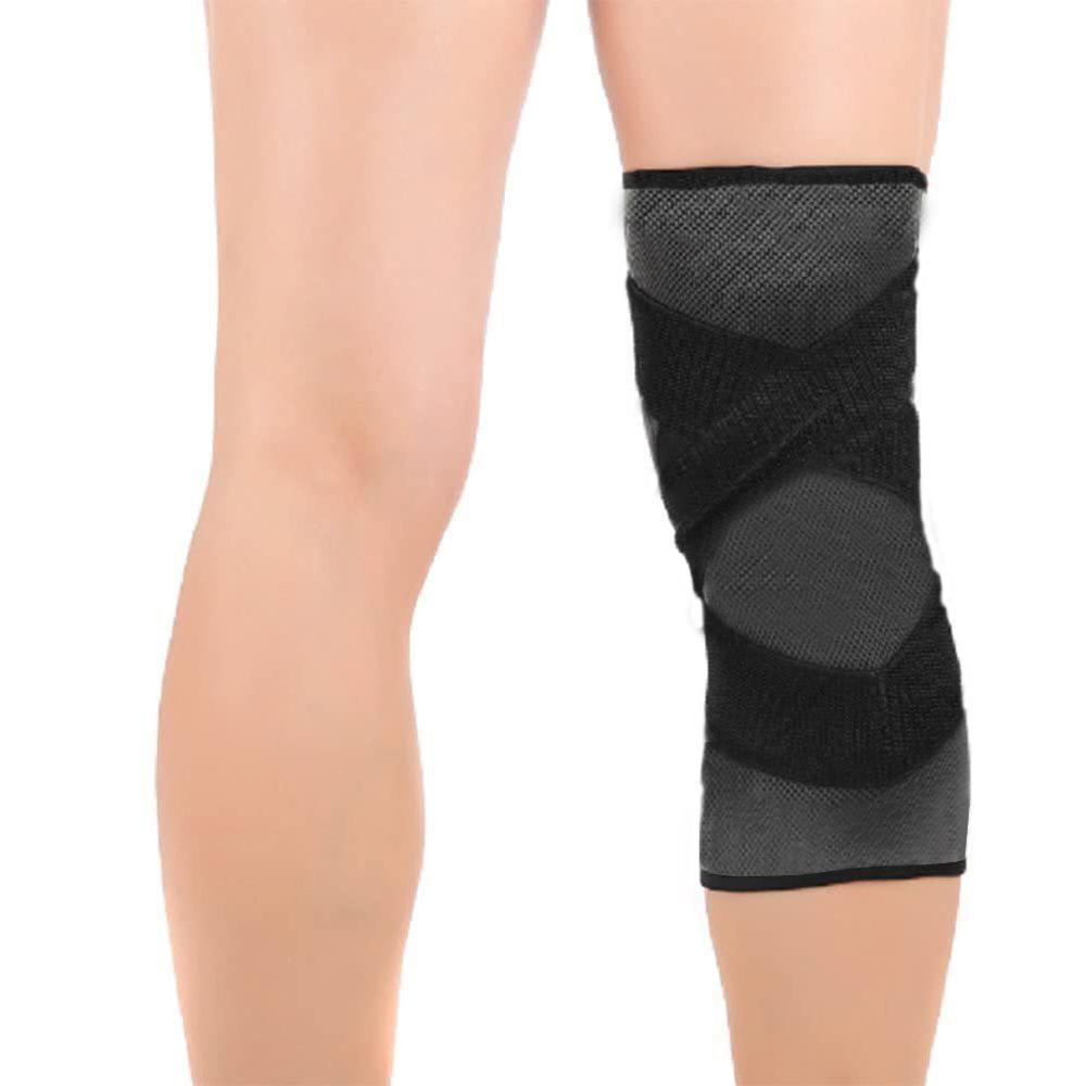 Joelheira Elastica 3D bandagem Compressão Exercício Joelhos Estabilidade Academia Apoio Suporte Articulação Fitness