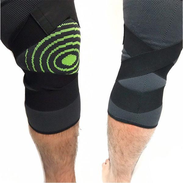 Joelheira Elastica 3D Joelhos Compressão Exercício Estabilidade Academia Articulação Fitness Apoio Suporte