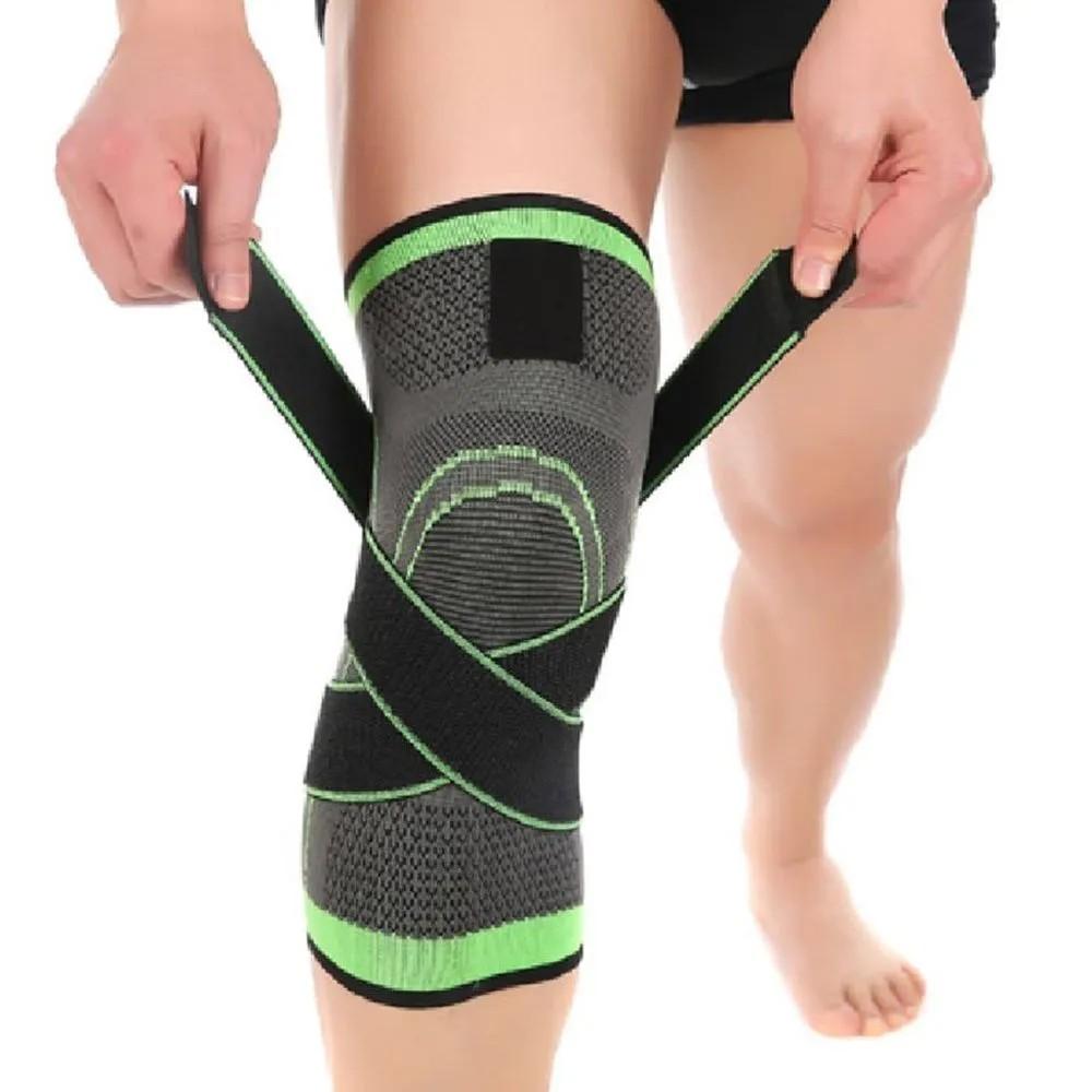 Joelheira Elastica 3D  Joelhos Exercício Bandagem Compressão Estabilidade Academia Apoio Articulação Fitness Suporte