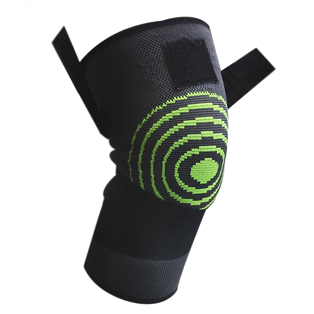 Joelheira Elastica 3D Par Exercício Bandagem Suporte Compressão Estabilidade Academia Apoio Articulação Fitness