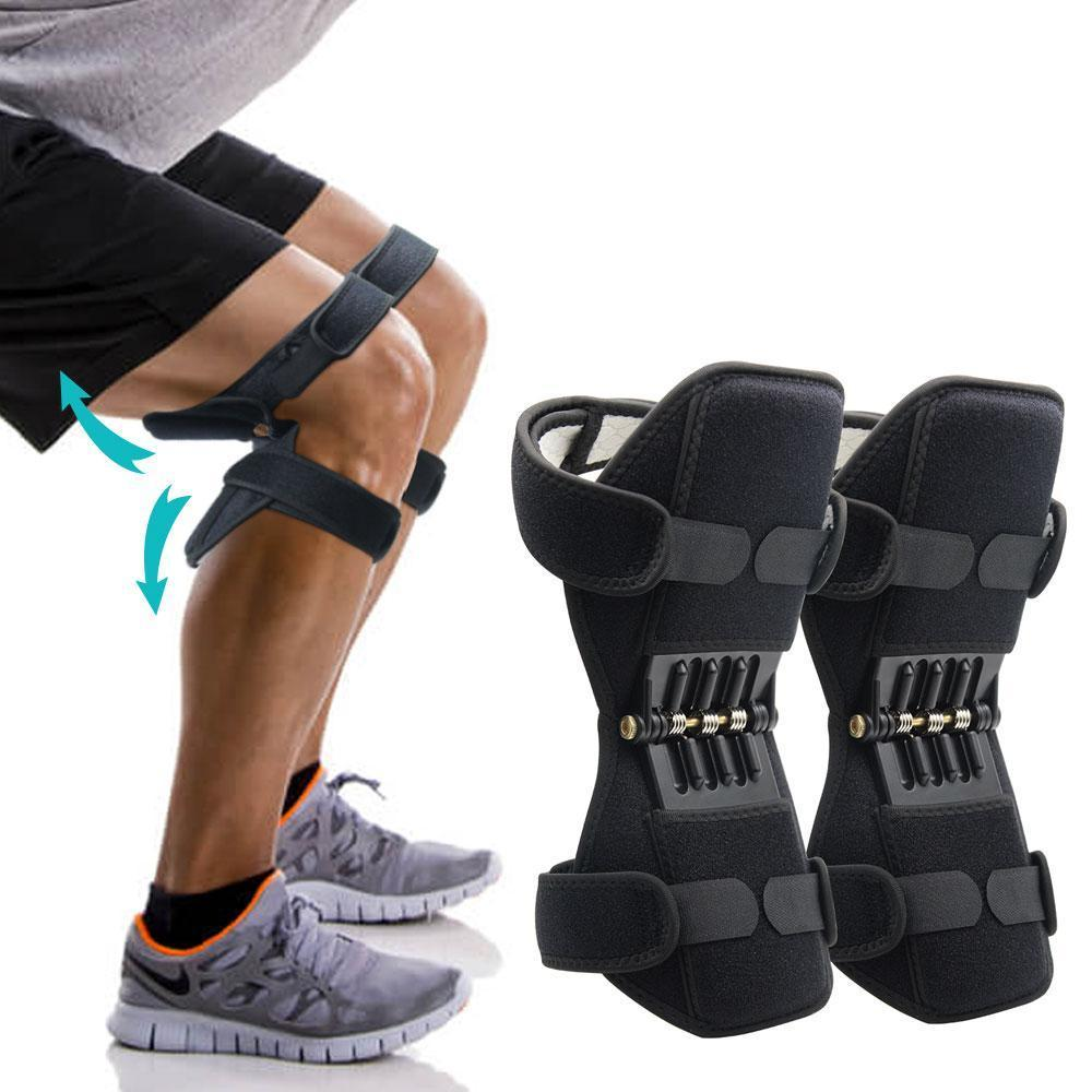 Joelheira Articulada Force Apoio Exercicio Suporte Joelhos Par Ajuda Articulação Esporte