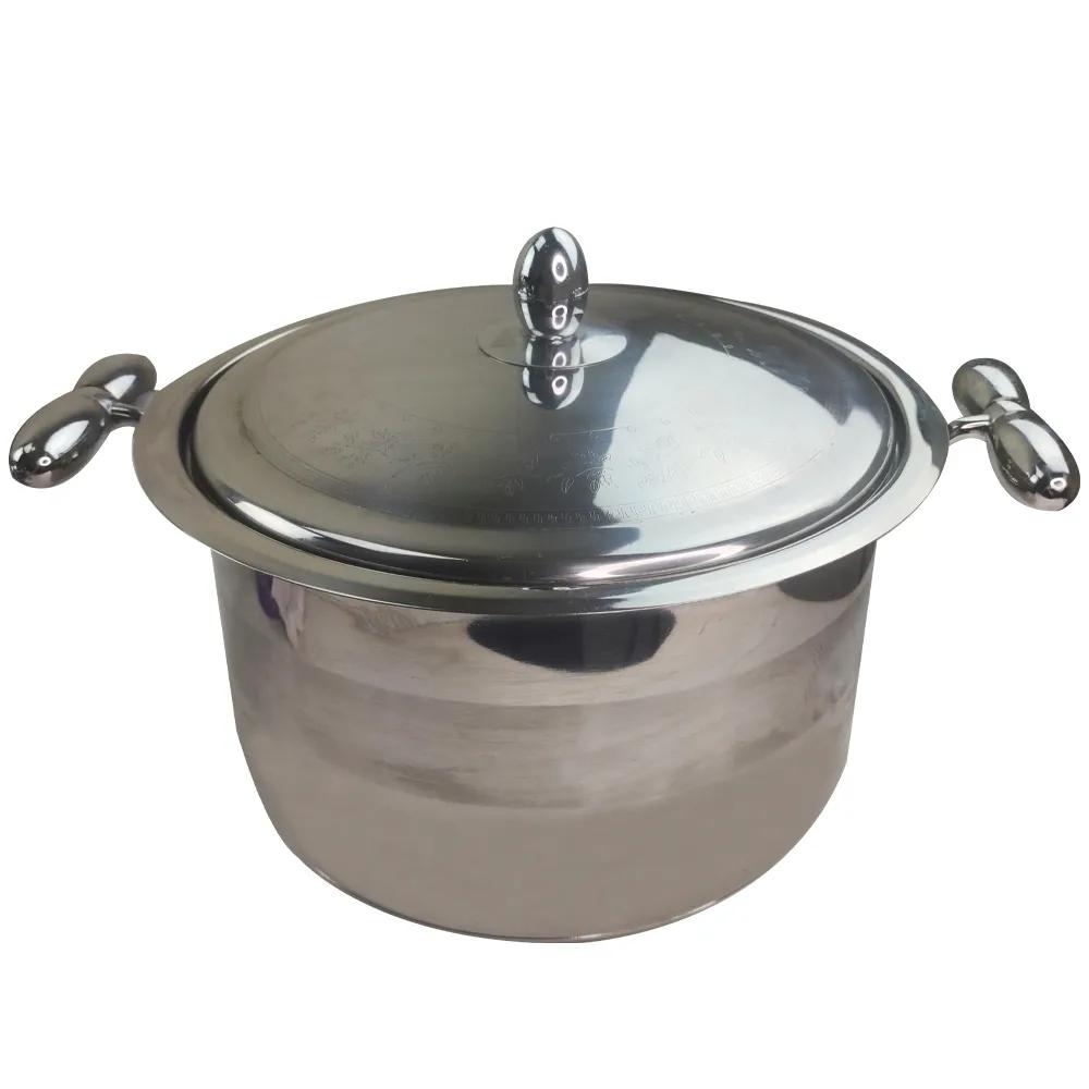 Jogo de Panelas 7 Peças Aço Inox com tampas Cozinha Casa Cozinhar Fundo Triplo