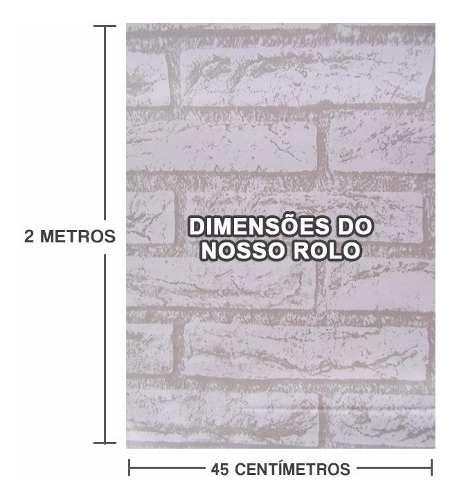 Kit 10 und Papel De Parede Tijolinho Pedra Branca Autoadesivo