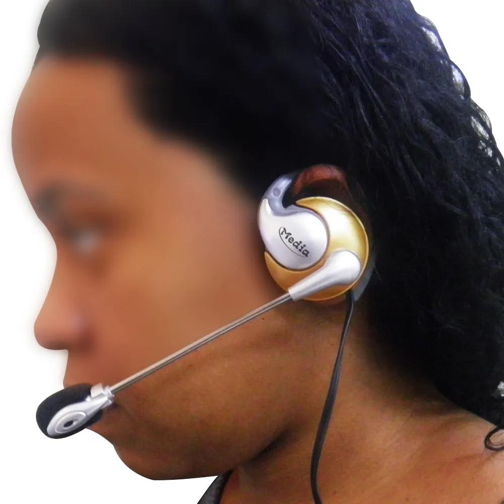 Kit 10 Uni. Fone de ouvido com microfone P2 Home Office Computador Notebook Jogos Wathsapp Headset
