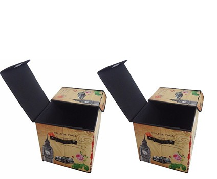 Kit 2 Bau Porta Treco Dobravel Vintage Retro Para Guardar Volume Estampado Big Ben