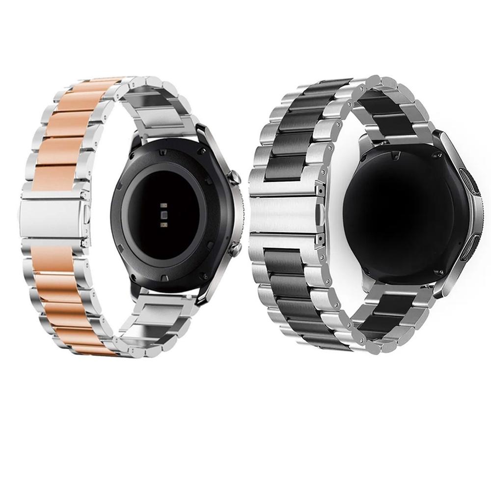 Kit 2 Pulseiras Smartwatch Smartband Inox Relogio Inteligente Elos