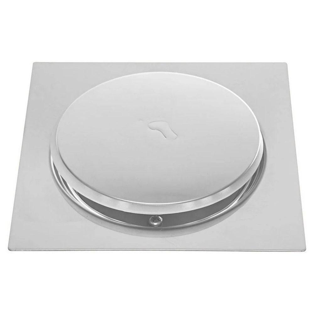 Kit 2 Ralos Click Inteligente Aço Inox Banheiros Lavabos Casa 10x10