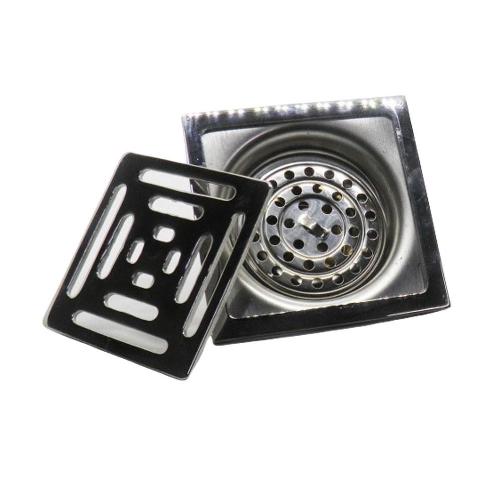 Kit 2 Ralos Inteligente Anti Odor Insetos Aço Inox Banheiro Casa 10X10