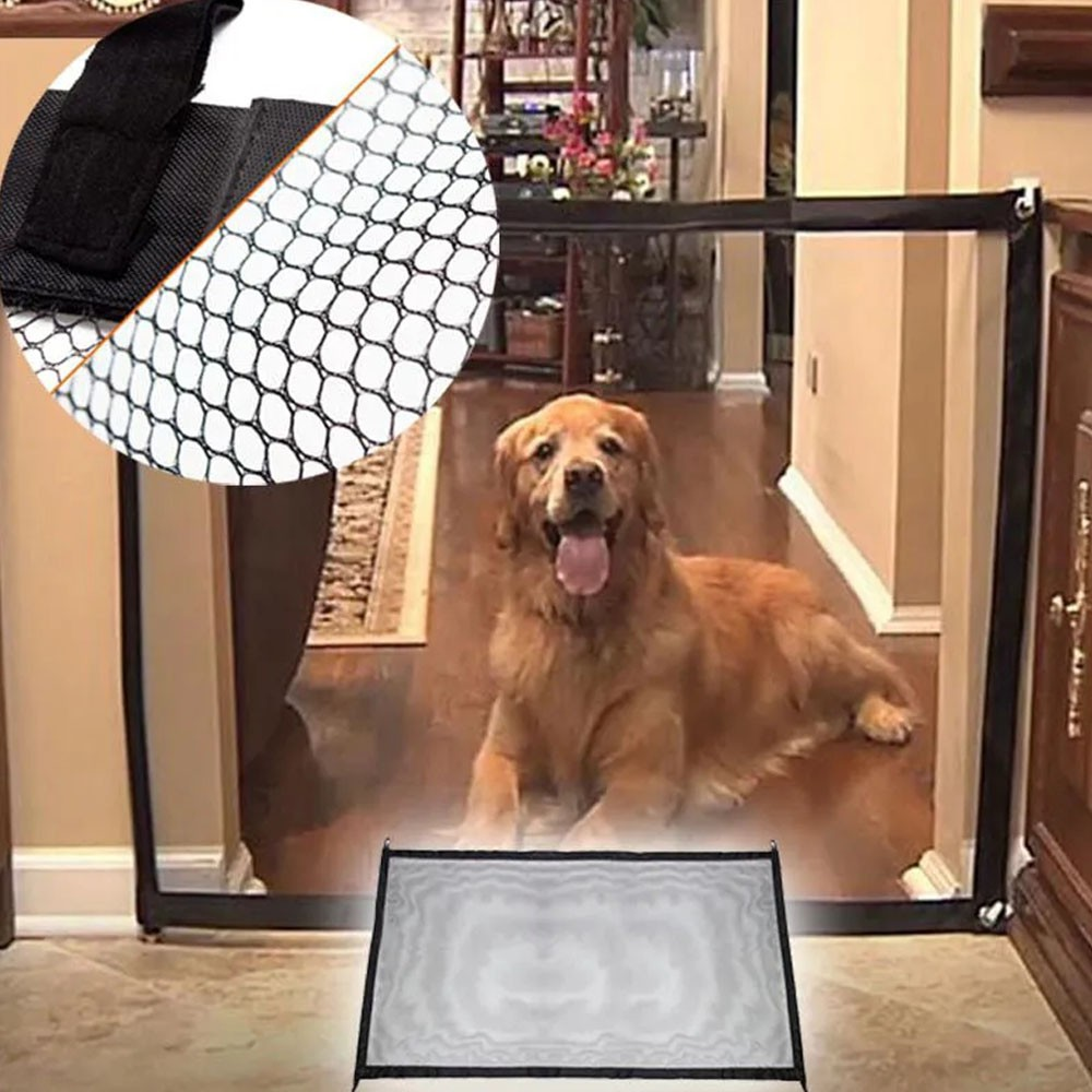 Kit 2 Telas Grade Porta Para Cachorro Pet Caes Bebe Gato Criança Casa Proteçao