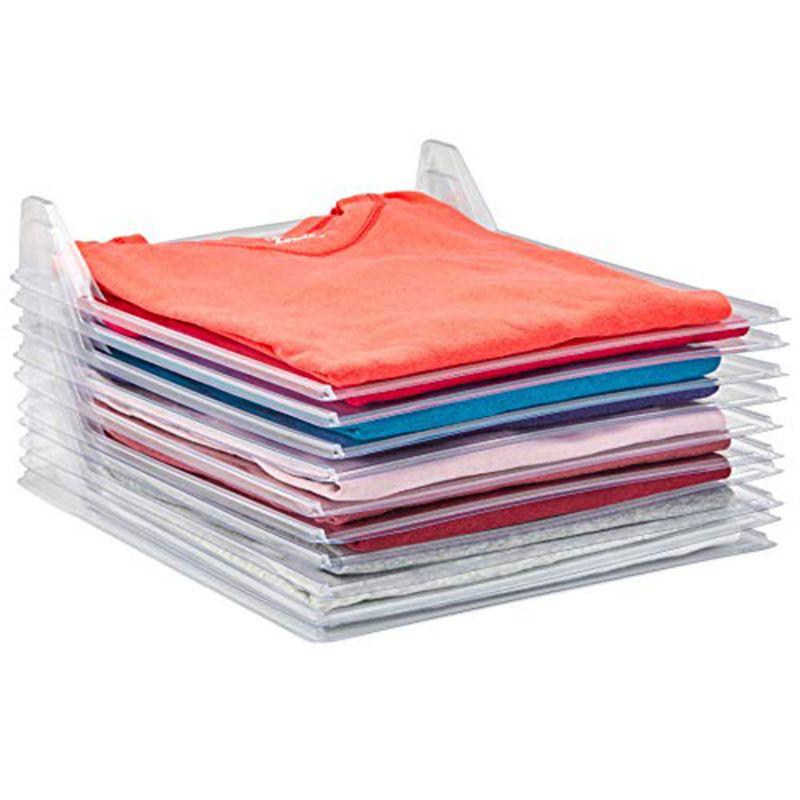 Kit 3 Organizadores De Roupas Camiseta 10 Divisorias Camisa Guardar Dobrado