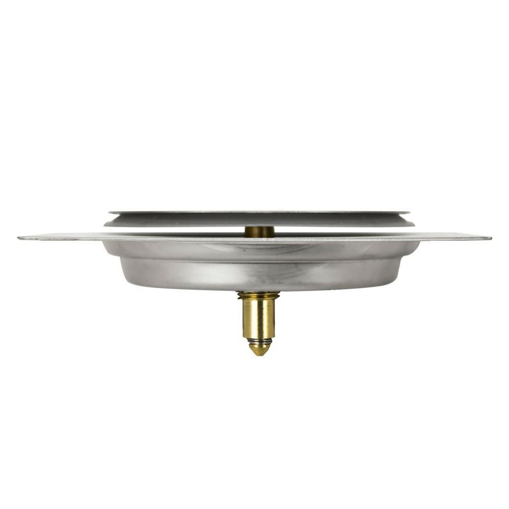 Kit 4 Ralos Click Inteligente Aço Inox Banheiros Lavabos Casa 10x10 Pop Up