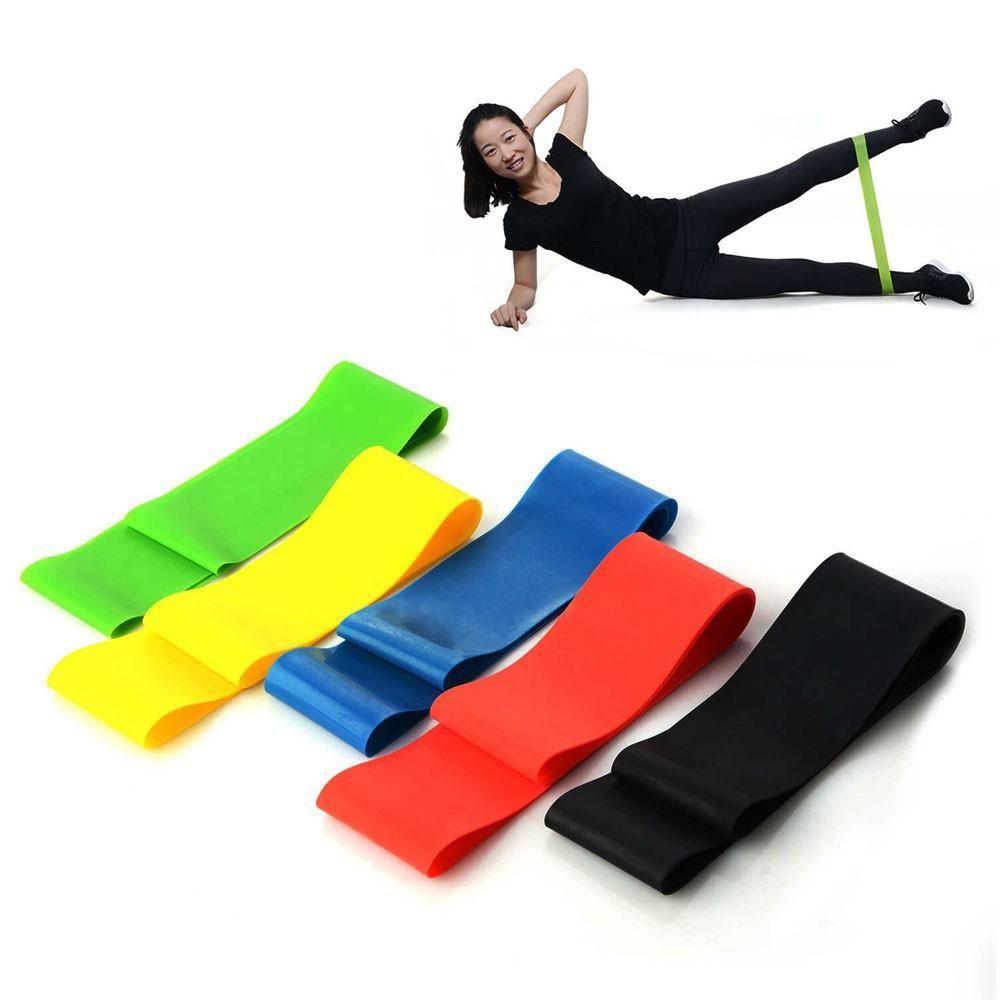 Kit 5 Faixas Elasticas Exercicios em Casa Mini Band Extensor Academia Yoga Pilates Fitness