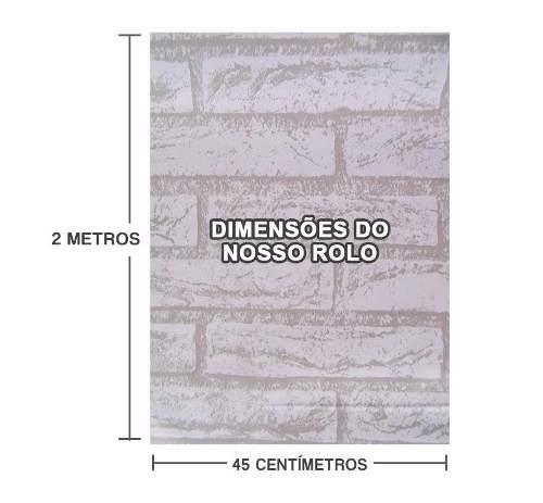 Kit 9 Und Papel De Parede Tijolinho Pedra Branca Autoadesivo