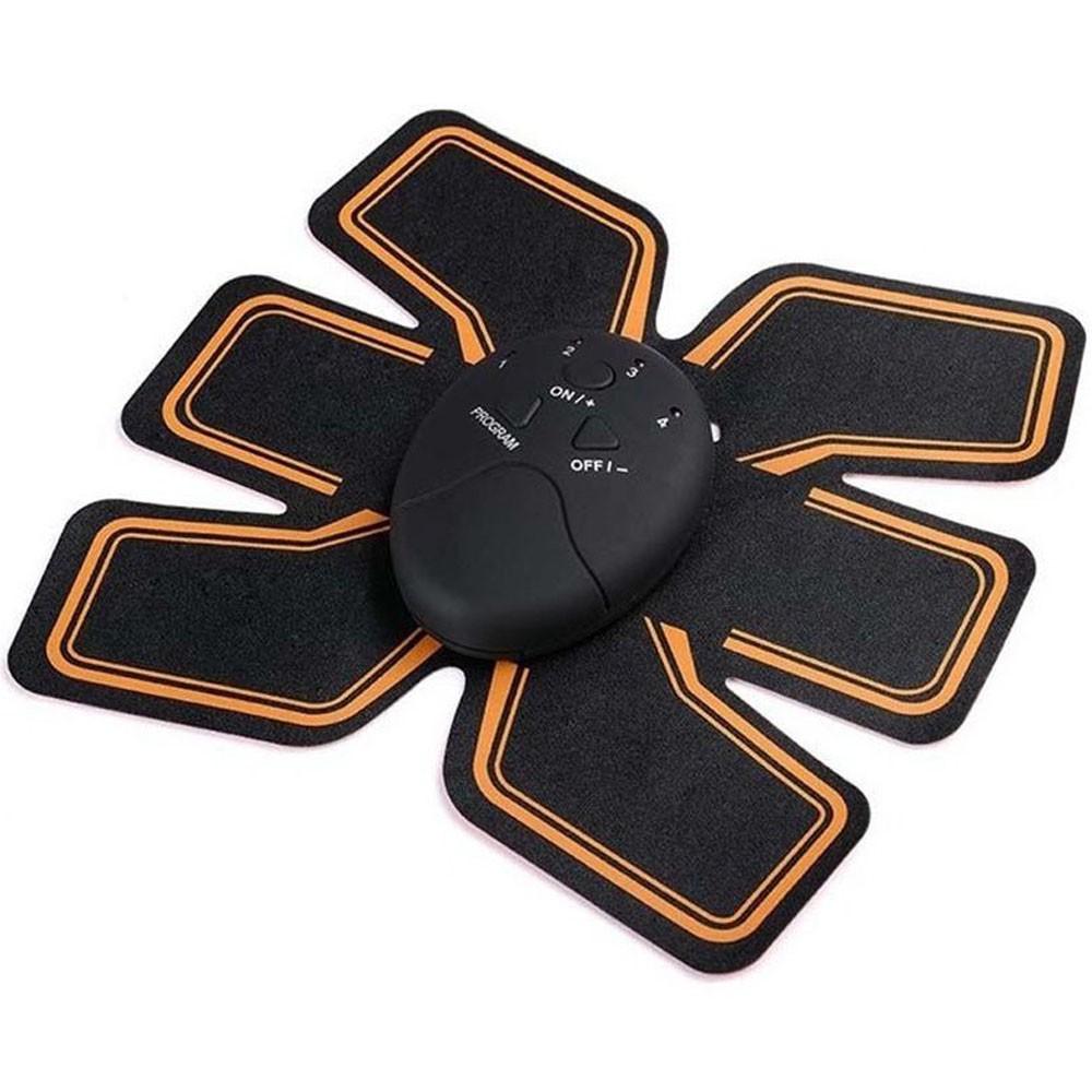 Kit Aparelho Abdominal Eletrico e Elastico Roda Exercício