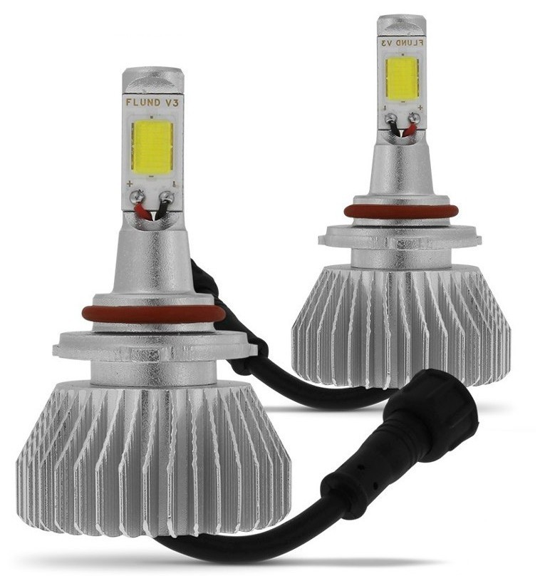 Kit de Farol para Carro Automotivo Lanterna Lampada Super Led H8 Branca 6000k Headlight (H8)