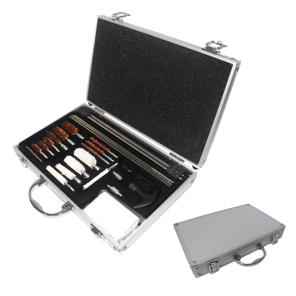 Kit de Limpeza Universal Armas Maleta Todos Calibres Armamento Pistolas Ferramentas