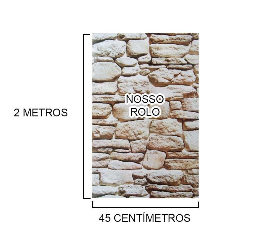 Kit Papel de Parede 5 Unidades Pedra Marrom Claro Autoadesivo (bsl-42079-1-A)