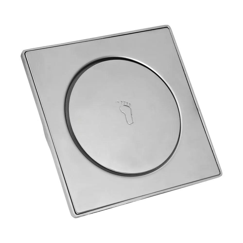 KIT Ralo Click Inteligente Aço Inox Clic Pop Up Banheiro Lavabo  2 Und.15x15 1 Und.10x10
