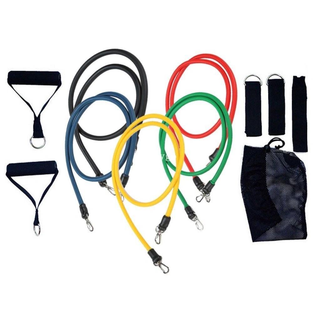 Kit Tubing Elasticos Fitness Exercicios Funcional Extensores