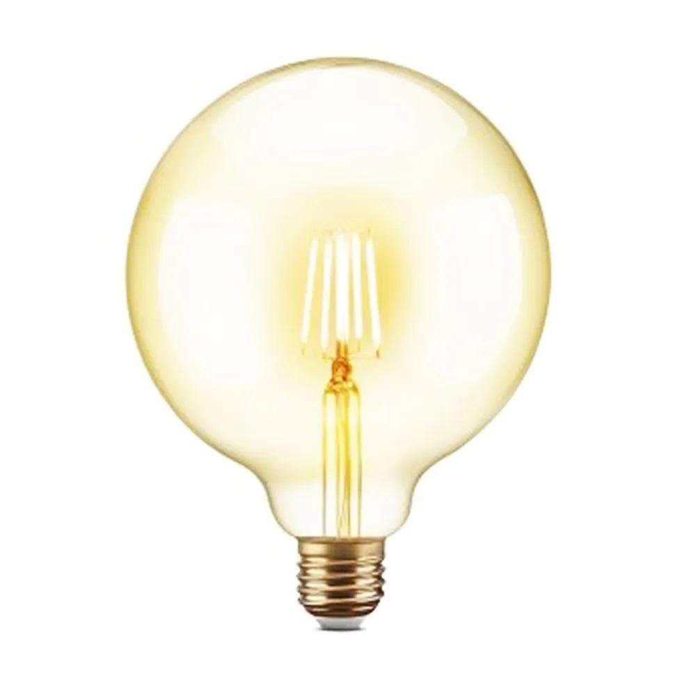 Lampada de Led Multi Filamento Kit 60 Uni Ballon Retro Vintage Bivolt 380lm 30W Iluminação