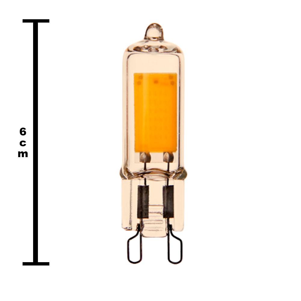 Lampada LED Decorativa Luz Ambar Iluminaçao Decoraçao Retro G9 Quente
