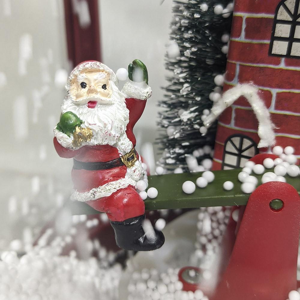 Lamparina Musical Natal Natalino Enfeite Led Decoração Musica 40 centimetros casa festa eventos