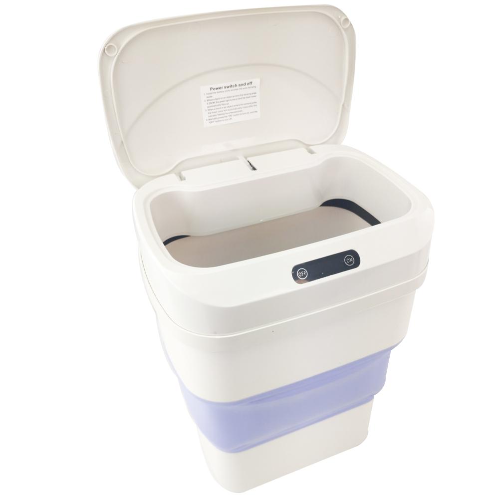 Lixeira Com Sensor Automatica Higienica Altura Ajustavel Cozinha Lixo Silicone Inteligente