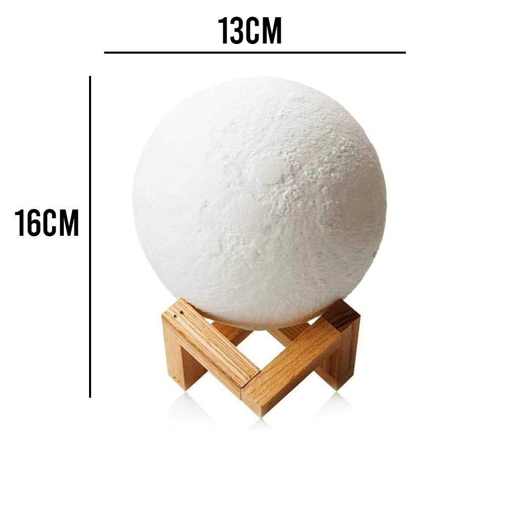Lua Cheia Umidificador Luminária Touch Aromatizador Abajur Led 3d