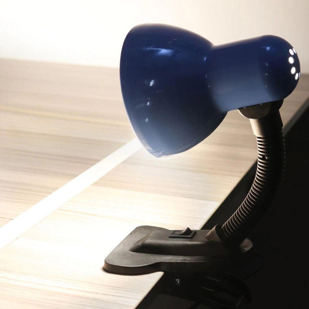 Luminaria Com Garra Articulavel De Mesa Presilha Sala Trabalho Escritorio Abajur