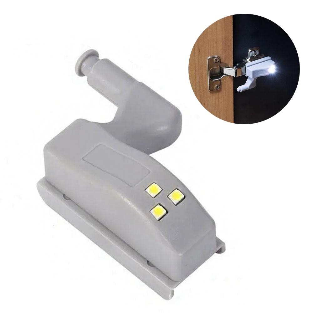 Luminaria de Armario LED Automatica Dobradiça Lampada Sensor Inteligente Guarda Roupa Porta Iluminaçao Kit 4 Uni