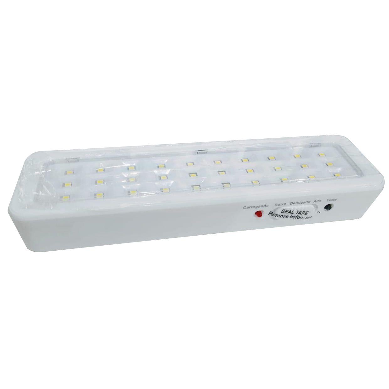 Luminária de Emergência com 30 Leds recarregavel lampada bateria Bivolt