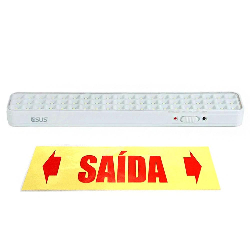 Luminaria de Emergencia Lampada 60 LEDs Bateria Recarregavel Luz Iluminaçao Empresa Comercio Casa