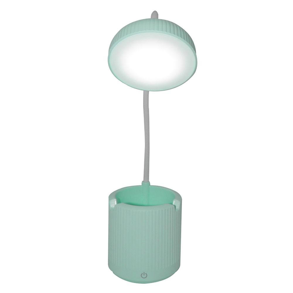 Luminaria de Mesa Abajur Touch Screen LED Flexivel Recarregavel Articulada Suporte Celular Lampada Iluminaçao