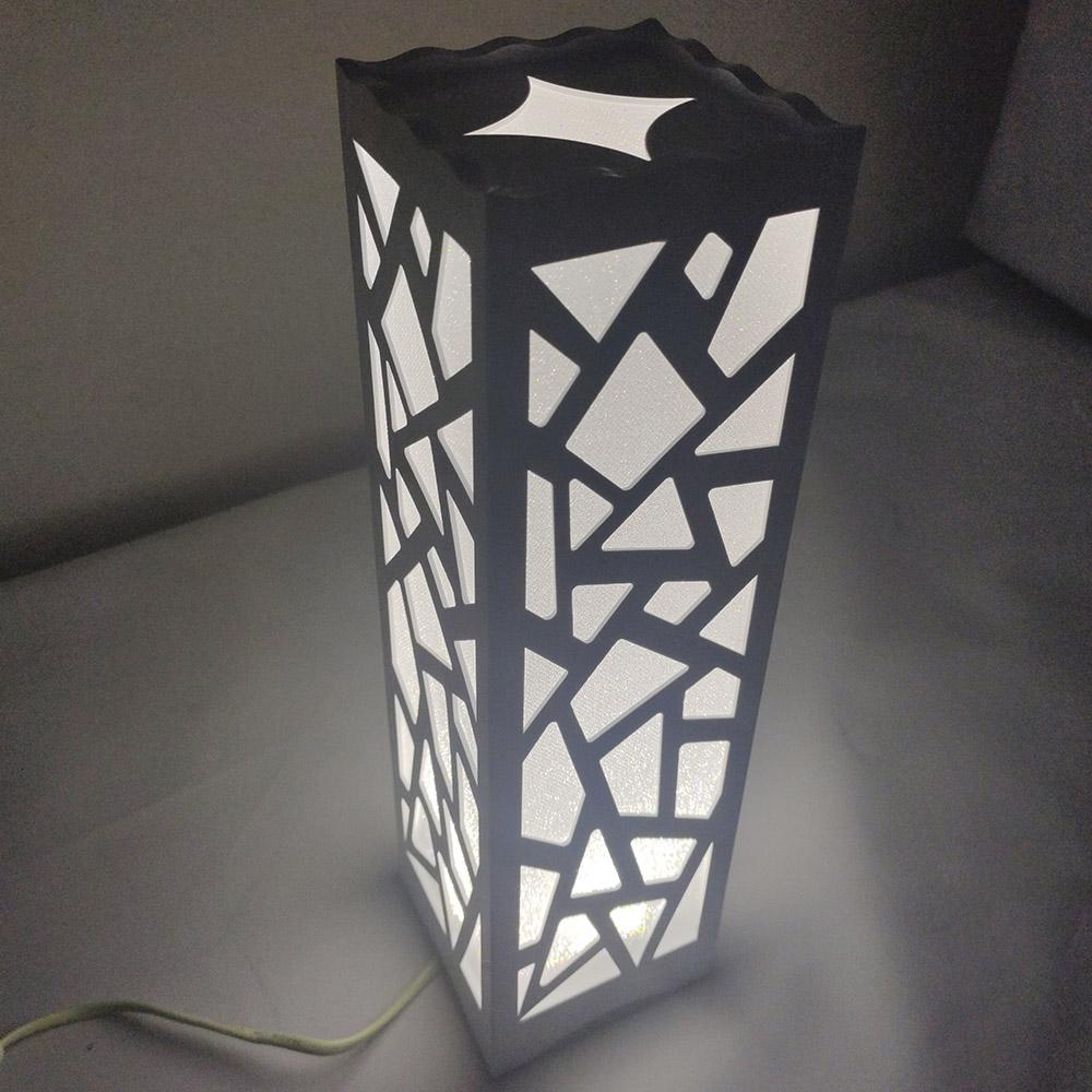 Luminária de Mesa Cabeceira 3 tons Abajur Led Decoraçao Torre Fixa Sala Trabalho Iluminação Leitura Tower Fix Quarto