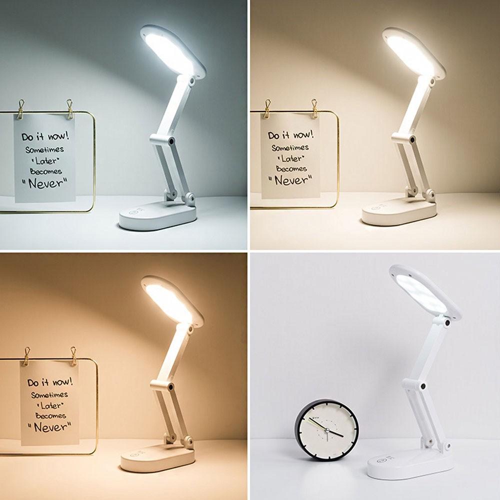 Luminaria de Mesa Touch Dobrável Abajur Sem Fio LED Articulada Recarregavel Iluminaçao Lampada 3 Funções