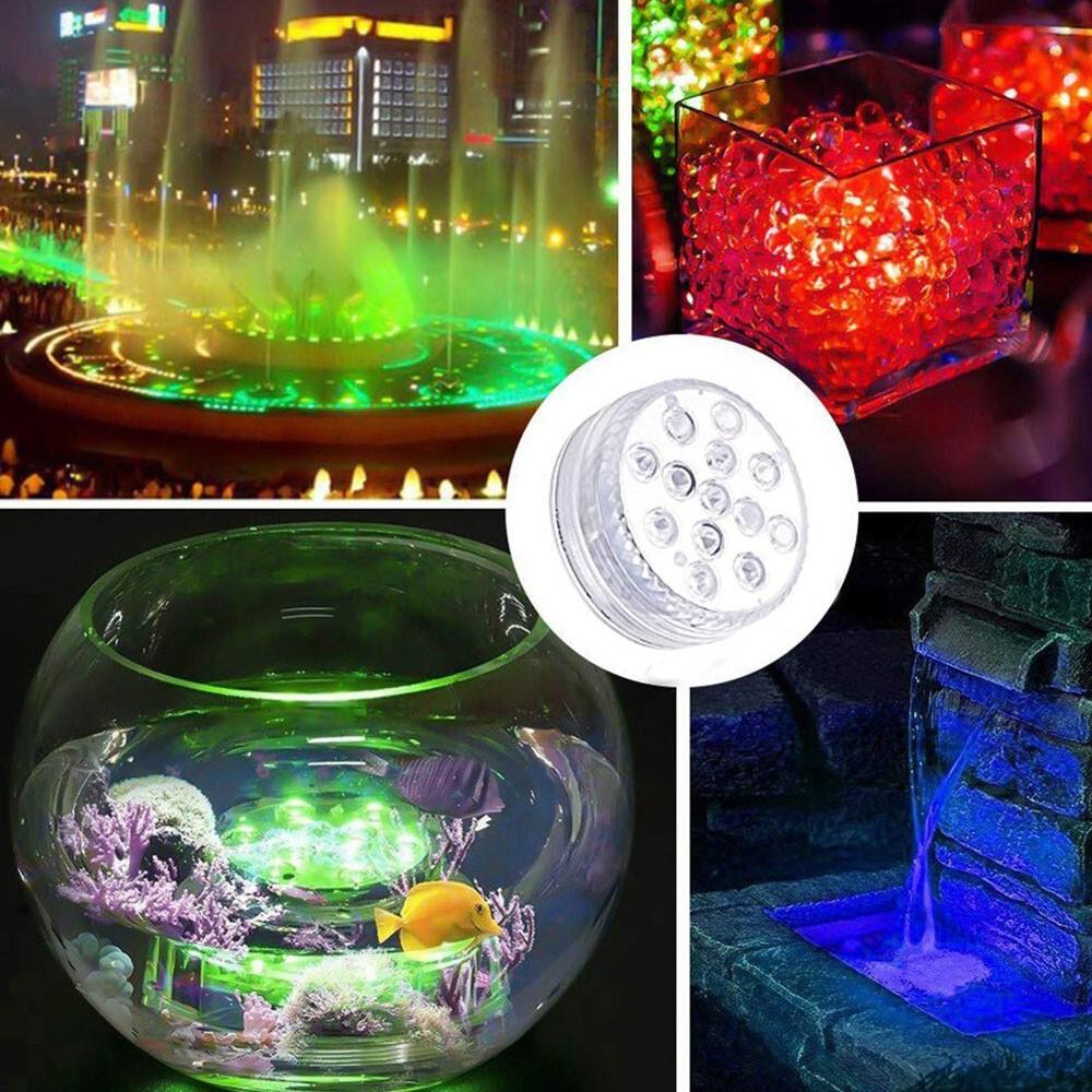 Luminaria LED RGB Controle Remoto Piscina Festa Evento Jardim Decoraçao Iluminaçao Prova d'Agua