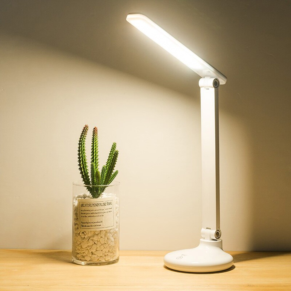 Luminaria mesa touch screen led recarregavel aticulada abajur 30 leds 3 funçoes escritorio leitura