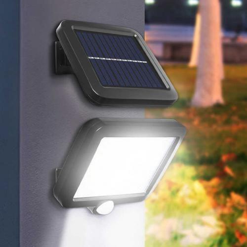 Luminaria Solar Sensor de Proximidade Painel Separado 100 Leds Parede Articulada