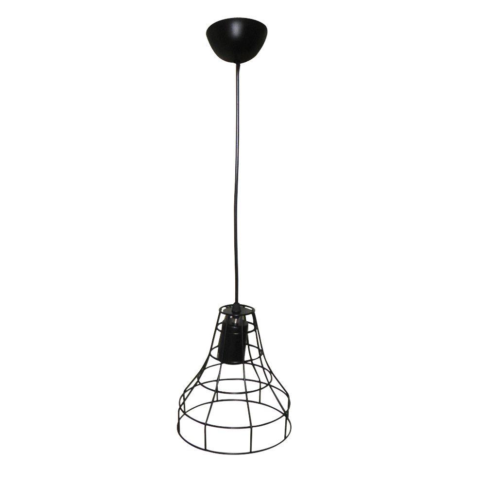 Lustre Luminaria Pendente Iluminação Luz Decoração Vintage Pendulo Metal Casa Retro
