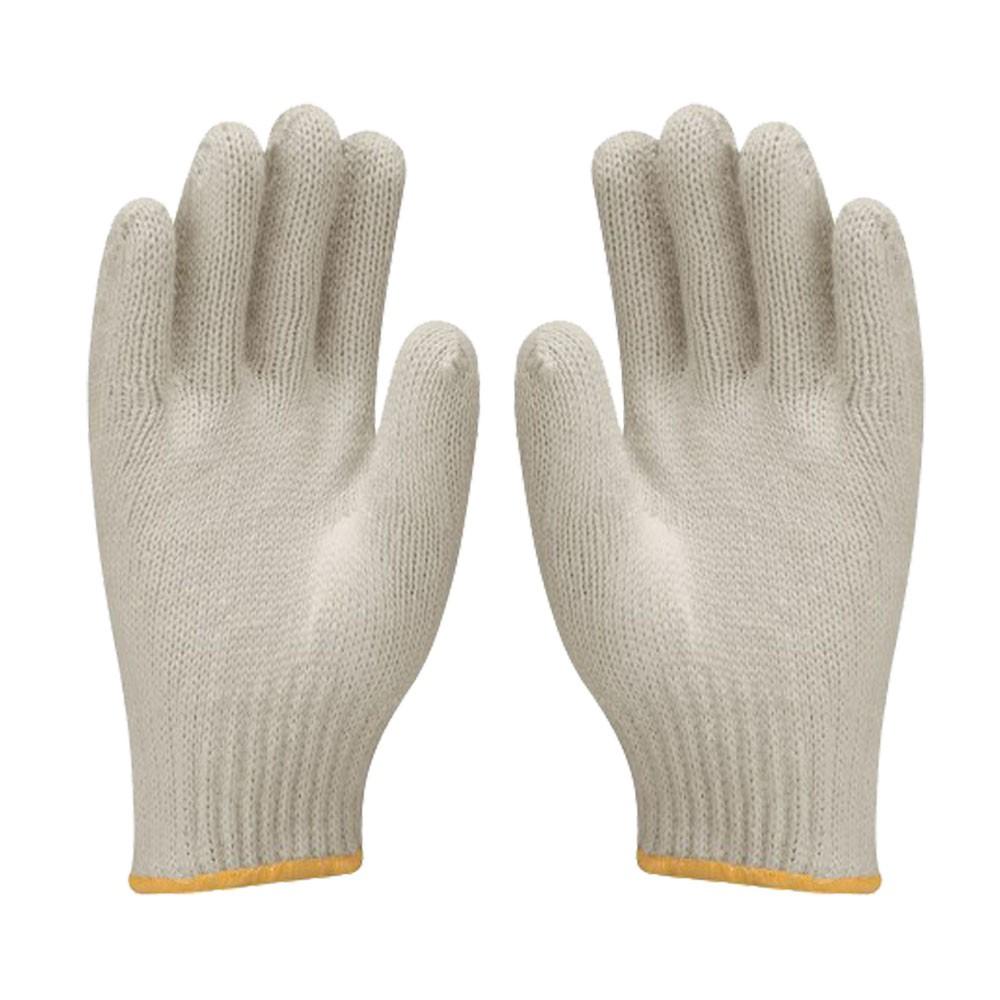 Luvas de Malha Tricotada Kit 20 Pares EPI Construção Obras segurança proteção Frio Reforçada