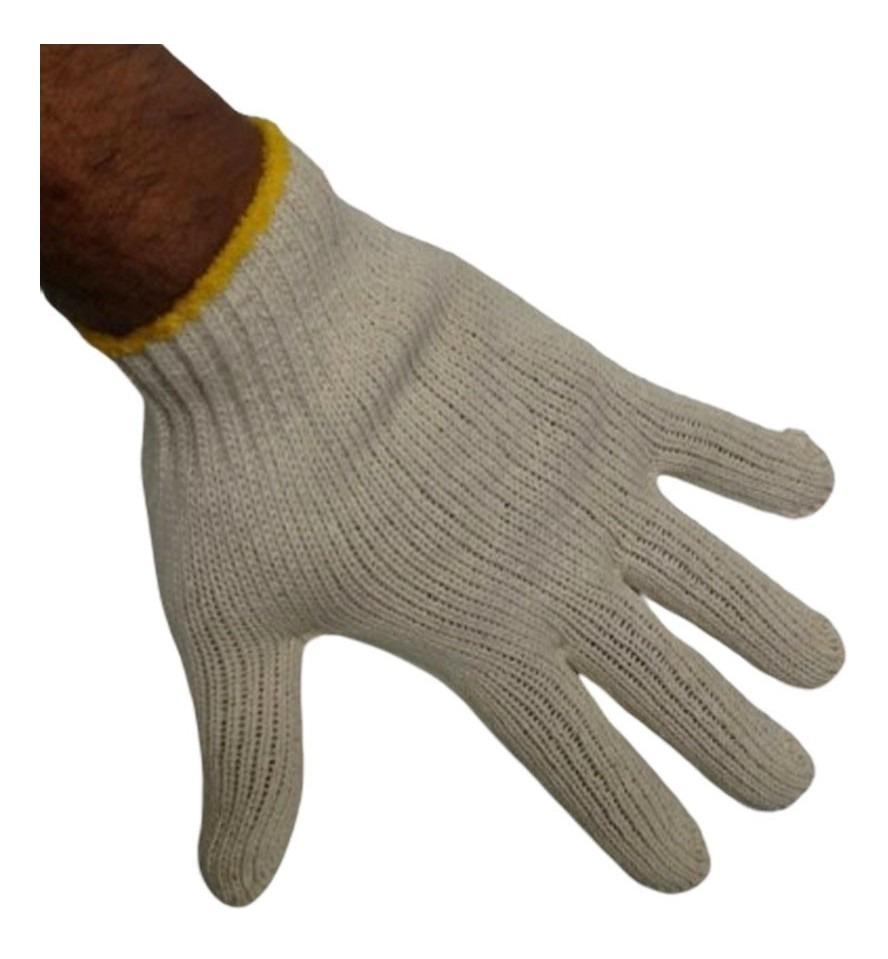 Luvas de Malha Tricotada Kit 500 Pares EPI Construção Obras segurança proteção Frio Reforçada