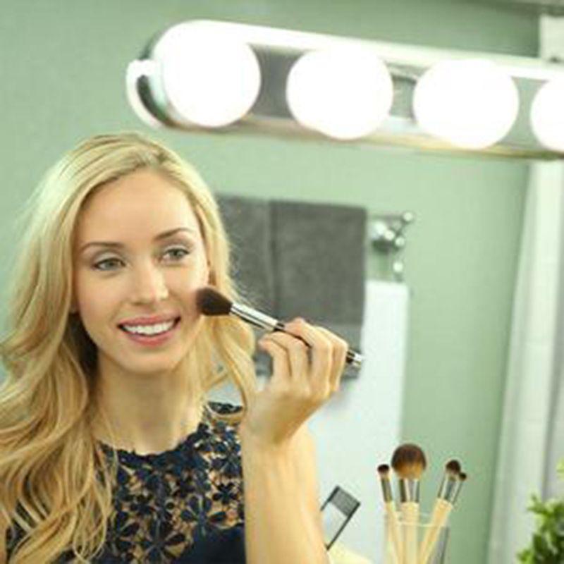 Luz de Espelho Maquiagem Camarim 4 Leds Sem Fio Studio