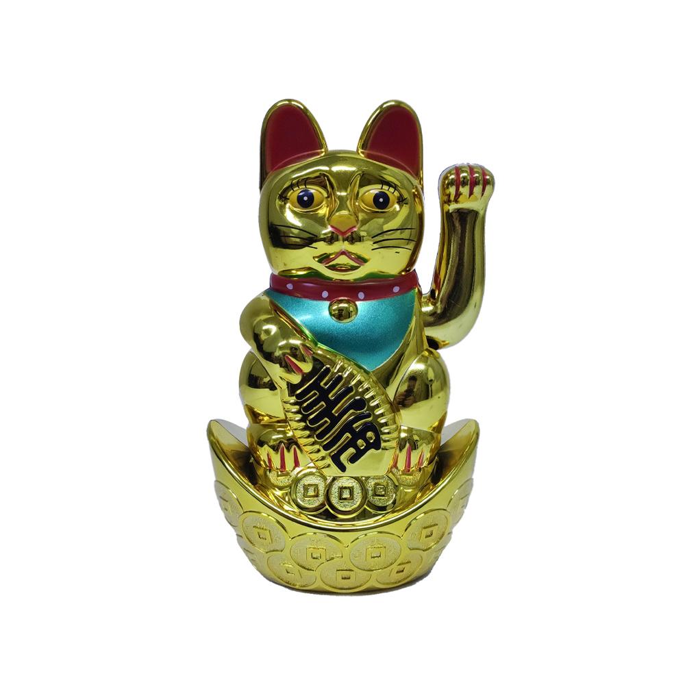 Maneki Neko Gatinho Sorte Balança Mão Gato Manekineko dinheiro prosperidade