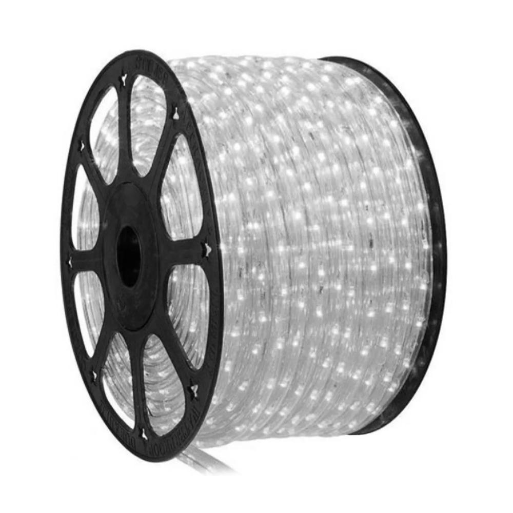 Mangueira de LED 100m Iluminação Branca Luz Natal Rolo Redonda Festa Evento