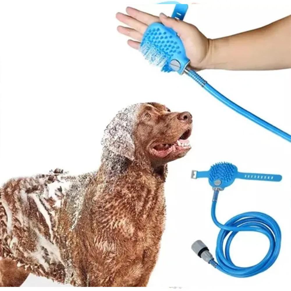Mangueira Luva Banho Pet Caes Gatos Massageadora Petshop Limpeza Escova Cachorro