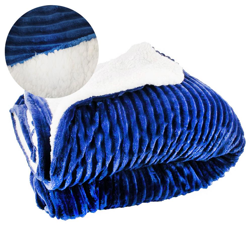 Manta Cobertor Edredom Dupla Face Extra Macio Microfibra King Carneiro Reserva