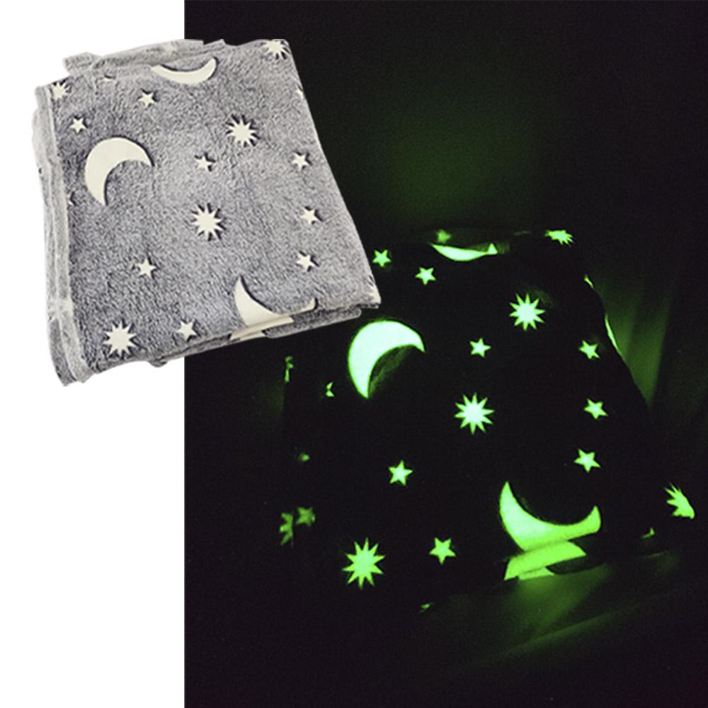 Manta Cobertor Infantil Mantinha Brilha no Escuro Florescente Microfibra Extra Macio