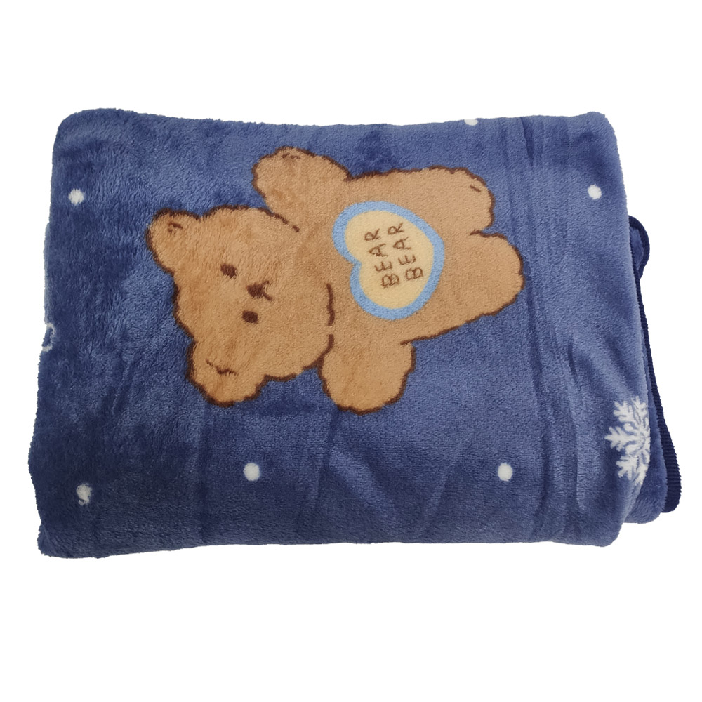 Manta Cobertor Infantil Mantinha Toque Macio Aveludado Urso