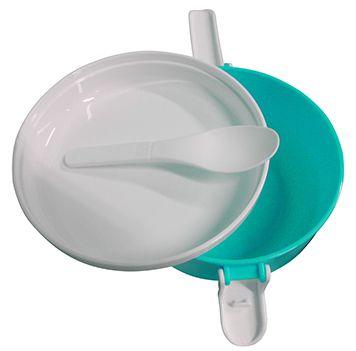 Marmita Com 2 Compartimentos Marmitex Para Microondas E Freezer Azul